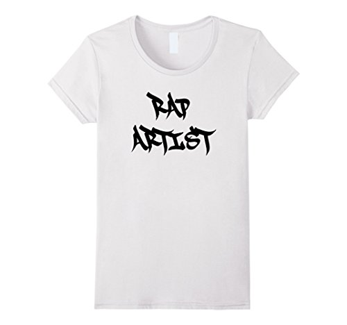 Female Rapper Costumes (Womens Funny Halloween Rap Artist Rapper Costume Shirt Large White)