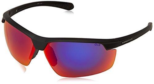 Gargoyles Men's Stakeout 10700113.QTM Wrap Sunglasses,Matte Black,77 - Gargoyle Sunglasses Polarized