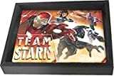 Super Hero Captain America Civil War Team Stark, hero 3D Shadow Boxes.