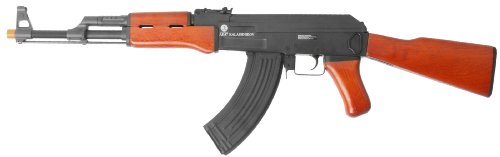 Soft Air Kalashnikov AK47 AEG Full Metal Body Electric Airsoft Gun, Brown Black