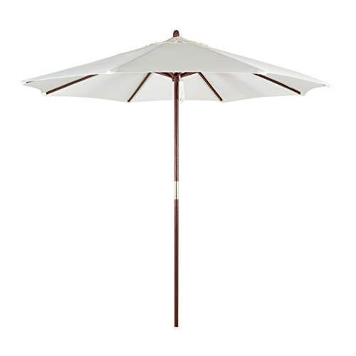 California Umbrella Hardwood Polyester Natural