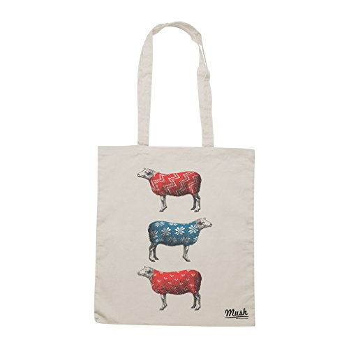Borsa WINTER IS COMING FOR SHEEP - Sand - DIVERTENTE by Mush Dress Your Style