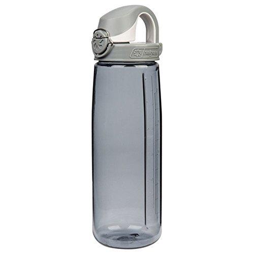 Nalgene Tritan OTF Bottle with Gray Cap, Smoke