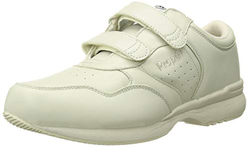 Propet Men's Life Walker Strap Sneaker,Sport White,9 M (US Men's 9 D)