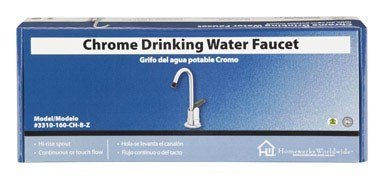HOMEWERKS WORLDWIDE 3310-160-CH-B-Z Chrome Drink Water Faucet - Chrome Drinking Water