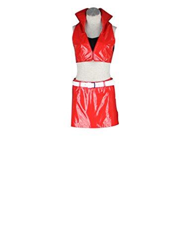 Mtxc Women's Vocaloid Cosplay Costume Meiko 2nd Size XXXL-Plus Red