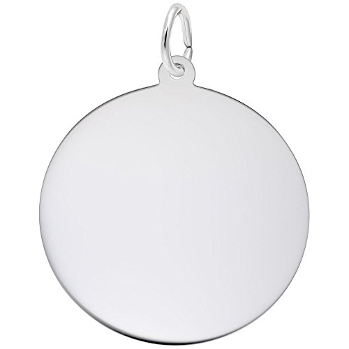 Rembrandt Charms, 1in Disc.5mm Thick.925 Sterling Silver, Engravable