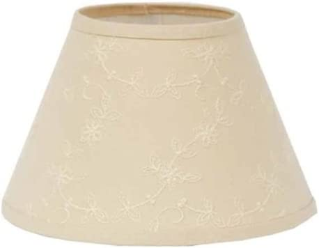 Home collection by Raghu Candlewicking Washer Lampshade, 14-Inch, Cream