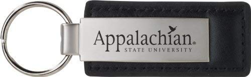 (Appalachian State University - Leather and Metal Keychain - Black)