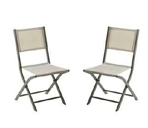 Lote De 2 sillas plegables para MODULO, color gris