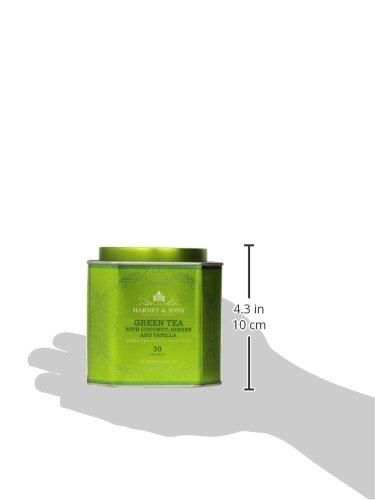 Harney & Sons Green Tea with Coconut, Ginger and Vanilla, 30 Sachets, 2.67 oz (75 g) 5 Fine Teas Master Tea Blenders Green Tea with Thai Twist