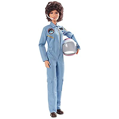 Barbie Inspiring Women Series Sally Ride Collectible Barbie Doll Wearing Fashion and Accessories, with Doll Stand and Certificate of Authenticity, Multicolor: Toys & Games