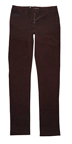 Calvin Klein Womens Stretch Ponte Pants, Merlot, 6 by Calvin Klein
