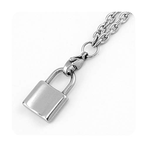 Summer-lavender Stainless Steel Padlock Chain Necklace Coin/Saint/Open Heart/Lock Pendant Choker Long Necklaces Fashion New