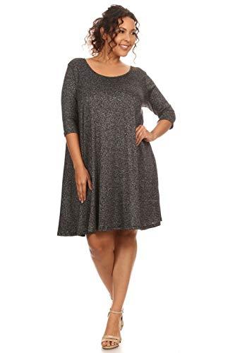 501b991fdf3 Vibe Sportswear Marled Cage Back Swing Knit Dress (Plus)