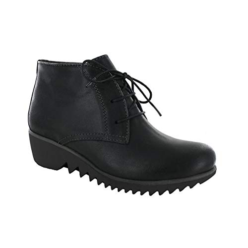 Dusky Womens Black Boots Winter Wolky Leather HgqwPF