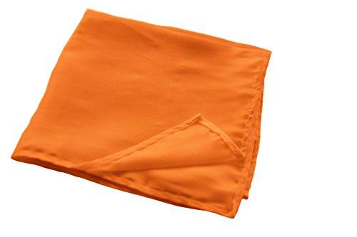 Orange Pocket colours Solid Men's Boys Square various Pocket 100 Pocket Men's Polyester Square Square Colour Pocket Square Tdadqgw
