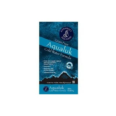 Annamaet Grain Free Aqualuk Cold Water Fish Formula Dry Dog Food 5 lb Bag with Wild Caught Salmon and Herring