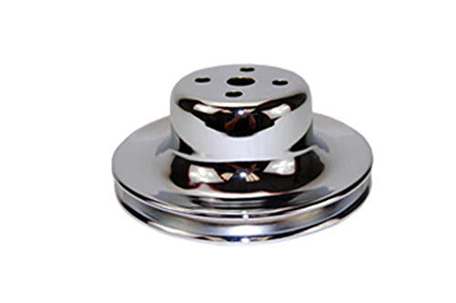 (Pirate Mfg 1965-66 SB 289 Chrome Steel Single Groove Water Pump Pulley)