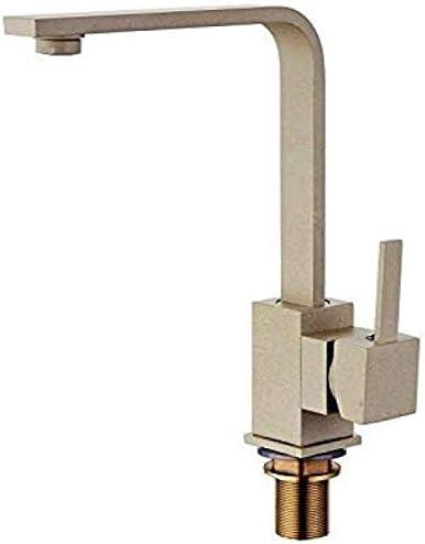 S-TING 蛇口 タップキッチンミキサータップクロームメッキヨーロッパのキッチンのシンクの蛇口シルバーアンティークコッパーミキサーレトロシンクの蛇口ホットとコールド 水栓金具 立体水栓 万能水栓