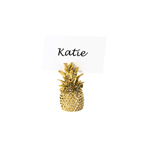 (Talking Tables EMP-Pine-PCARD-HLD Emporium Placecard Gifts | Gold Pineapple Place Card Holders | for Wedding, Bridal Shower, Christmas and Birthday Decorations | 6 Pack, Multicolor)
