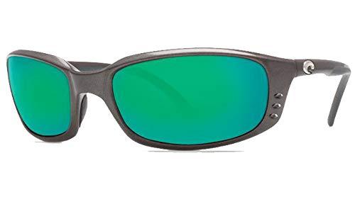 Costa Del Mar Brine Sunglasses, Black, Green Mirror 580Plastic Lens