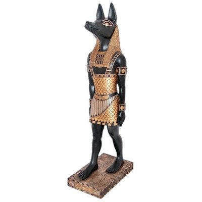 Design Toscano The Egyptian Jackal - God Anubis (Egyptian Jackal Statue)