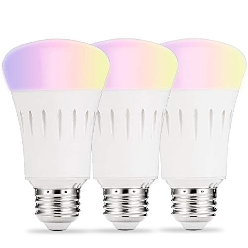 LOHAS Smart Bulb, Wifi LED Light A19, Daylight Warm and Color Bulbs Dimmable, 60W Equivalent LED Wireless, E26 Base, Smart Home Lighting Compatible with Alexa Google Assistant(3Pack) Review