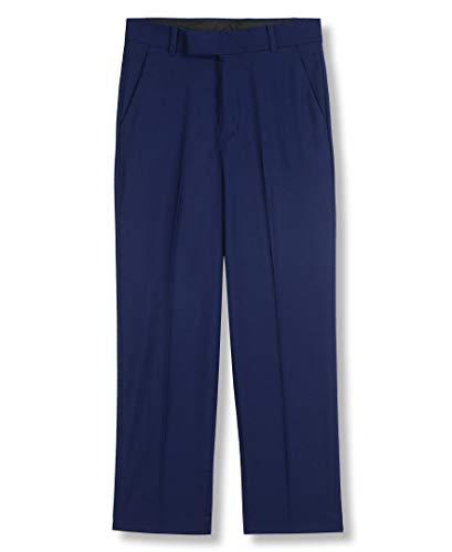 Calvin Klein Big Boys' Flat Front Dress Pant, Infinite Blue, 18 ()