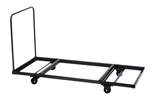 "Correll T3096 Flat Stacking Table Truck; 12-16 Rectangular Table Capacity Up To 90"" Long, 30""x90"", Commercial Duty"