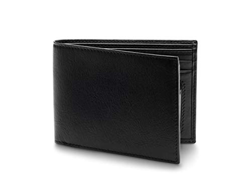 Bosca Men's Nappa Vitello Collection-Executive ID Wallet, Black, One Size (Black Nappa Footwear)