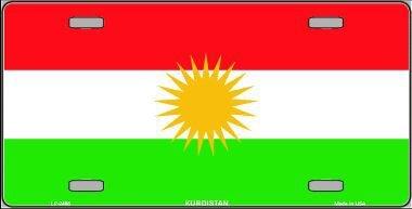 Smart Blonde lp-2485Bandera de Kurdistán metal novedad License Plate