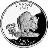 (2005 S Silver Proof Kansas State Quarter)