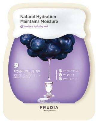 FRUDIA BLUBERRY HYD MASK 1S - ADDS Vitality, MAINTAINS Moisture, Calms and SOOTHES Skin, Skin Irritation Test COMPLTED