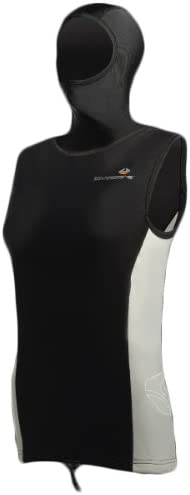 Lavacoreレディースフード付きベストサイズ12のスキューバダイビングシュノーケリングと水スポーツ
