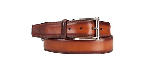 Magnanni Men's Belt Hand Burnished Calf Leather 1121 Cognac