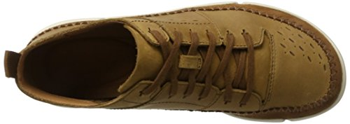 Clarks Men's Trifri Hi High Sneaker, Brown, 6.5 UK Brown (Tobacco Nubuck Tobacco Nubuck)