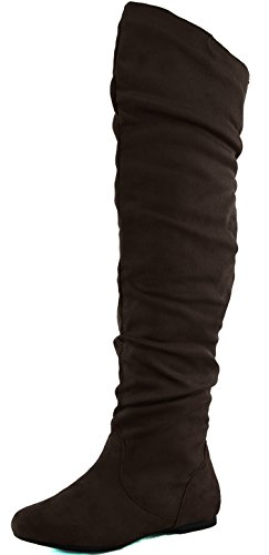 7 DailyShoes Hi Fashion M Knee Thigh Women's B Boots 5 High Over Sv The Brown PqPrFx