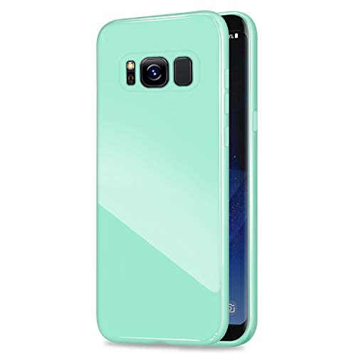 Case, ANLEY Candy Fusion Series - [Shock Absorption] Classic Jelly Silicone Case Soft Cover for Samsung Galaxy S8 Plus (Mint Green) + Free Ultra Clear Screen Protector ()