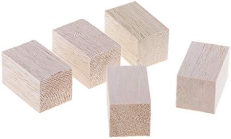 CUTICATE 5/10個入り モデリング 木製 ブロック バルサ材 DIY クラフト 構築モデル 全2サイズ - 5本50m