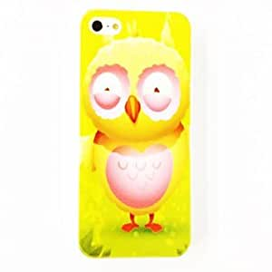 SJT Lovely Owl Pattern Polycarbonate Hard Case for iPhone 4/4S , Multicolor