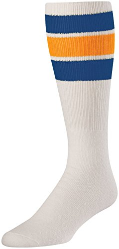 Tck Retro 3 Stripe Tube Socks  Royal Gold  Medium