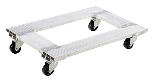 Vestil ACP-2130-9 Aluminum Channel Dolly with Hard Rubber Caster, 900 lbs Capacity, 30'' Length x 21'' Width x 6'' Height Deck by Vestil (Image #5)