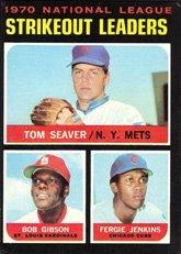 1971 Topps Baseball (1971 Topps Regular (Baseball) Card# 72 Seaver/Gibson/Jenkins Ex Condition)