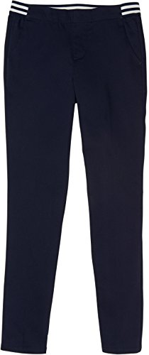 French Toast School Uniform Girls Contrast Elastic Waist Pull-On Pants, Navy, 20 (Blue Elastic Waist Pants)