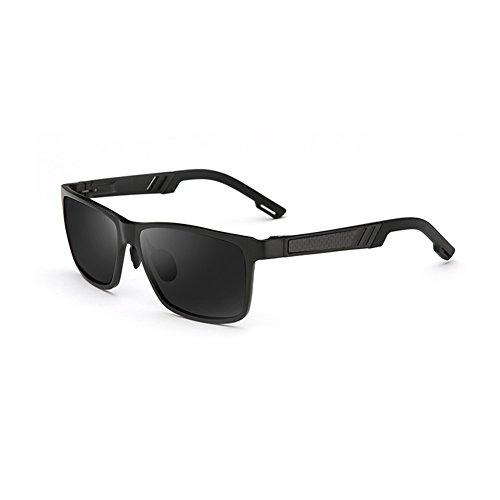 Hombres black Conducción Clásico De Color Caja Aire Plata Gafas Protección Anti WYYY Sol 100 UV Luz UVA De Black La Protección Cuadrada Libre Solar Polarizada Gafas Gafas Y0wW7q