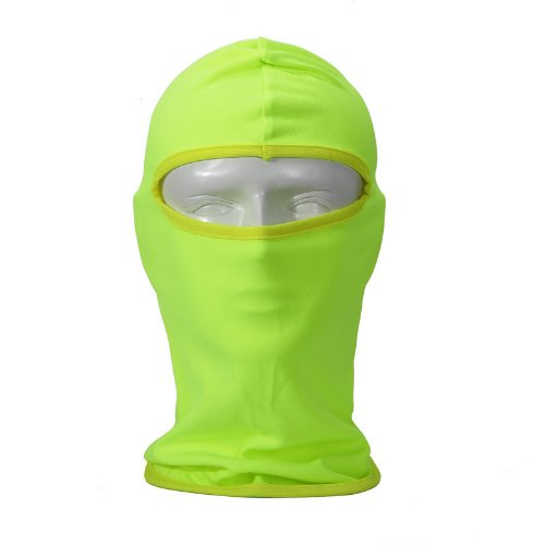 NewNow Candy Color Ultra Thin Ski Face Mask - Great Under A Bike / Football Helmet -Balaclava-Green -