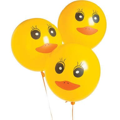 Birthday Printed Latex Balloons (Duck Printed Latex Balloons - 48 ct)