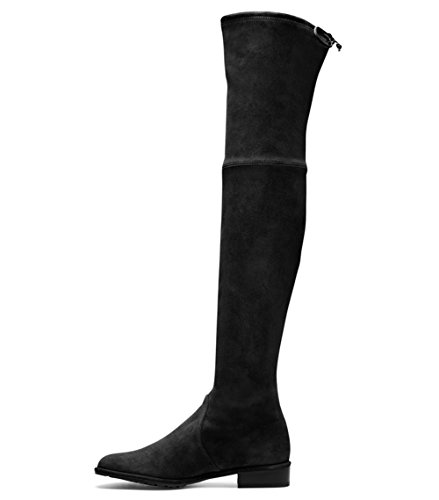 Mavirs Knee High Boots, Women's Round Toe Thigh High Over The Knee Boots Stretch Suede Flat Heel Tall Boots 12 M US by Mavirs (Image #7)