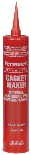 Permatex 51845-10PK Anaerobic Gasket Maker - 300 ml Cartridge, (Pack of 10) by Permatex